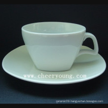 Square Porcelain Cup and Saucer (CY-P529)