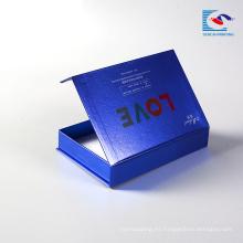 Caja de regalo de papel recubierto de cartón cosmético magnético al por mayor