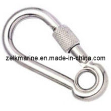 Stainless Steel Carbine Hook with Eye and Screw