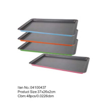 37*26 cm colorful coating sheet pan