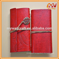 Hot sale new fashion leather notebook ,travel planner dairy notebook with blank sheets
