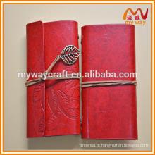 Bordo novo caderno de moda em couro, caderno de viagem com planejador de viagens com folhas em branco