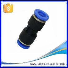PUC conexão pneumática reta com material plástico