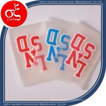 Marca de parche de goma / etiqueta de goma en relieve coser en la ropa / zapatos