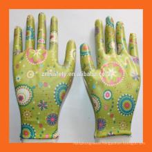 Ladies Garden Work Spring Gardening Gloves,Clear Nitrile Palm Coating Landscape Gloves
