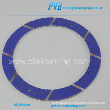 1593431 Marginally Lubricated Thrust Washers, POM coated thrust plate for volvo , marginal lubricating ring washer
