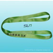 Eslinga de elevación sin fin de la fibra sintética de la cuerda 1-10t