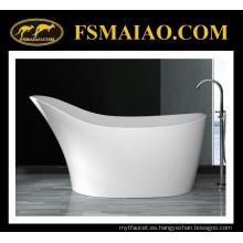 Bañera independiente independiente de la superficie sólida de la forma especial del diseño (BS-8605)