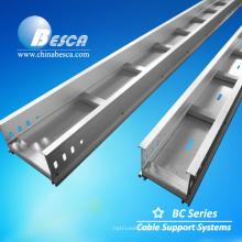 Bandeja de canalización de cables Alunimum con tapa y peldaños de escalera Certificación UL