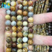 bijoux perles en pierre 10mm lisse naturel pierre d'agate
