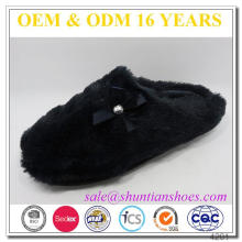 Comfort winter warm plush indoor woman slippers