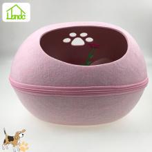 Легко разбираемое моющееся войлочное гнездо для домашних животных в форме яйца