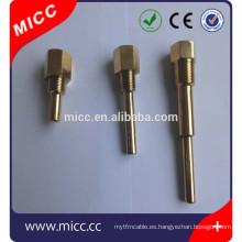 Tubo de protección de termopozo de bronce de pared pequeña y fina de tubo de latón MICC