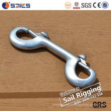 Rigging Hardware Clip de perro de acero inoxidable con doble punta