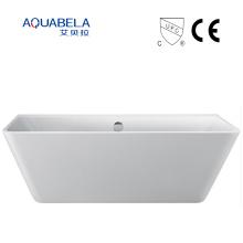Pared contra la bañera ancha del acoplamiento de la bañera de la tina de acrílico libre de la amplia