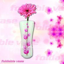 Umweltfreundliche und wiederverwendbare klare Plastik gefaltete Vase