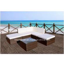 L-Muebles de exterior modernos Mobiliario de jardín Sofá de mimbre
