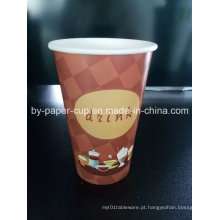 Copos de papel normal para chá quente de boa qualidade