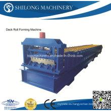 El CE aprobó el rodillo del panel de Decking del piso del acero del metal que forma la máquina