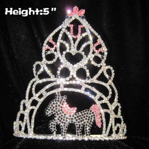 5inch Crystal Horse Shaped Pageant Crowns