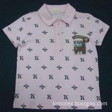 T-shirt with allover printed polo