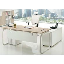 Mesa de muebles de oficina de melamina con la pierna de metal para el escritorio de oficina utilizado director (JO-5010)