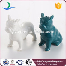 Decorative ceramic dog salt and pepper shaker set wholesale