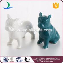 Decorativas de cerâmica cão sal e pimenta conjunto shaker atacado