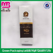 sac d'emballage de café à fond carré