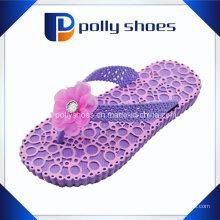 Симпатичные Bow Purple Slipper Элегантная девушка флип-флоп