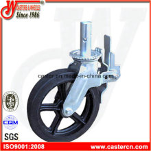 10 Inch Black Rubber Swivel Scaffold Caster Wheel