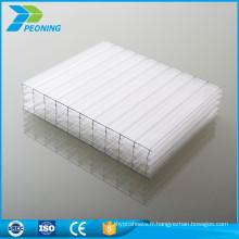 Vente chaude usine directement lexan transparent isolation thermique bayer en polycarbonate en plastique double paroi pc feuilles