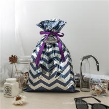 Bolsas de regalo de plástico azul con cordón de CPP para Halloween