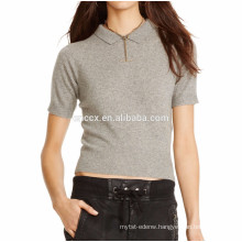 15PKCAS59 turn down collar women cashmere sweater