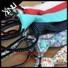 Handgemachte Krawatte Baumwolle YKK Zipper Krawatten