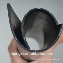 Hoja / estera de goma insertadas negro de alta calidad con el nilón