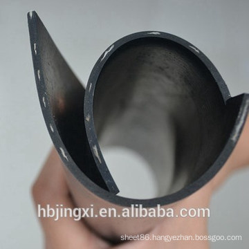 High Quality Black Inserted Rubber Sheet / Mat With Nylon