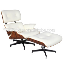 2015 Top sale comfortable white leather wood frame beauty lounge chair, luxuly living room chair
