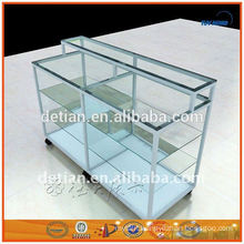 Shanghai modern glass aluminium display cabinet metal rack metal display stand portable shelf metal countertop display rack