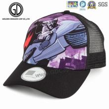 Coole Unisex-klassische kundenspezifische Sublimationsdruck-Baseball-Fernlastfahrer-Kappe mit Maschen-Rückseite