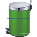 Cubo de basura de pedal de acero inoxidable de alta calidad, cubo de basura