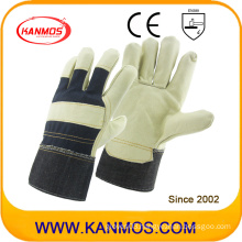 Light Furniture Cowhide Leather Work Industrial Hand Safety Gloves (310052)