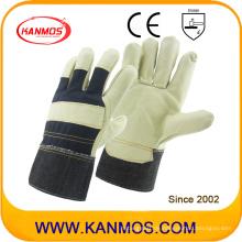 Leichte Möbel Rindsleder Arbeit Industrie Hand Sicherheits Handschuhe (310052)