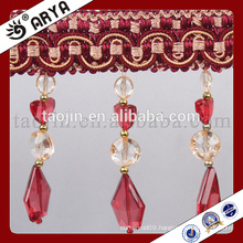 New Designed Competitive products Decoration Products Used for Home and Curtain of Handcraft Crystal Beads Fringe