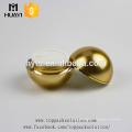 fabricante de plástico 50 ml bola de ouro em forma de creme de rosto acrílico frascos