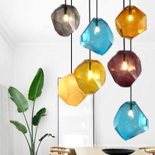 Zhongshan Nordic Style Home Decor Chandelier Glass Irregular Melt Lava Pendant Lights