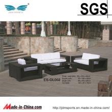 Mobília ajustada de vime confortável do sofá do Rattan do PE do projeto novo (ES-OL002)