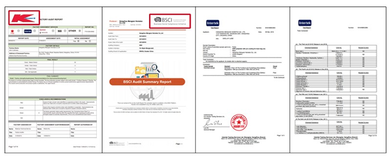 Certification of our factory
