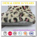 New fashion leopard plush design warm child winter boots with satin bow