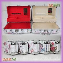 Hermosa impresión rígida material de madera niñas maquillaje caso (SACMC147)